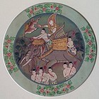 ORIGINAL THAI PAINTING OF JAKATA TALES FRAMED WITH GOLD LEAF