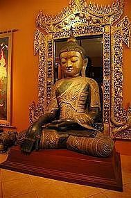 Very Large & rare Buddha, Stunning piece, eye catcher!!