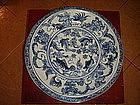 Extremely Rare Ming Cobalt Fish/Plant Porcelain Platter