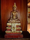 Wooden Buddha subduing Mara, late 19th Cent, Thai