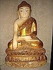 Marble Shakyamuni Buddha with Gilding, 19th Century