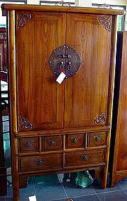 Chinese Camphor Cabinet made with inward sliding doors