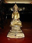 18th Century Bronze Buddha on high throne, Burma
