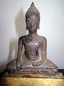 Rare Silver-Alloy Ayutthaya Buddha 17/18th Cent. Thai