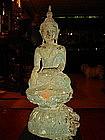 Shan Bronze Buddha subduing Mara, 19th Cent. Burma