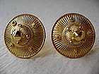 Handmade Khmer Fine Gold Earrings 24K. for pierced ears