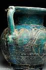 RARE - Roman turquoise glazed jar, 100 AD