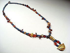 Museum quality Sumerian ancient beads necklace, 2200 BC