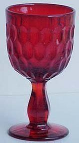 Fenton Red Thumbprint Goblet