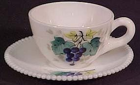 Westmoreland Fruits Beaded Edge Cup & Saucer, 