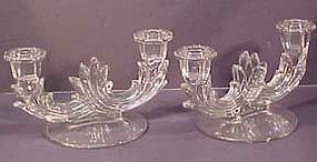 Fostoria Baroque Duo Candlesticks