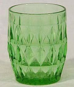"Jeannette Windsor Diamond Green 3.75"" Tumbler"