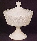 Fenton Spanish Lace Candy Box, Pedestalled