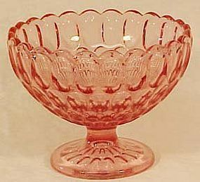 "Fenton Thumbprint Colonial Pink 7"" Bowl"
