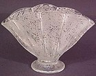 "Fenton Ming Etched 8"" Fan Vase"