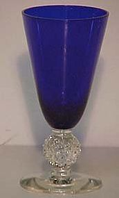 Morgantown Golfball Cobalt Blue Sherry Cordial