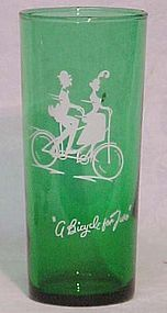 Anchor Hocking Green Ice Tea Tumblers, Swanky Swiggs