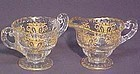 Cambridge Portia Individual Creamer & Sugar, Gold Encrusted