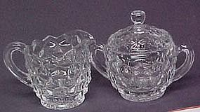 Fostoria American Creamer and Sugar