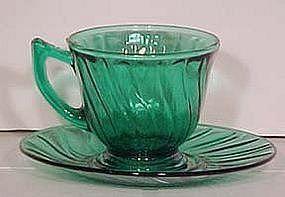 Jeannette Ultramarine Swirl Cup & Saucer
