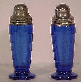 Hazel Atlas Moderntone Cobalt Shakers