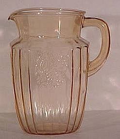 Hocking Glass Company Mayfair Pink Pitcher