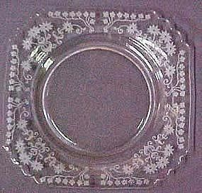 "Fostoria Manor Etch 8"" Plate"