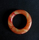 Chinese Marbled Glass Ring