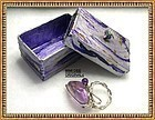 Signed Sterling Silver Bold Bypass Handwrought Ring & Box