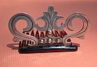 Vintage Pre Assay Silver Hecho en Mexico Comb