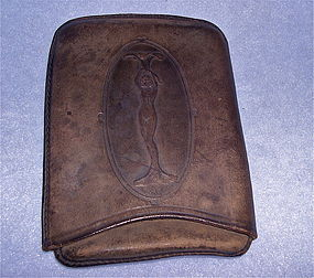 Antique Art Nouveau Cheroot Cigar Leather Case