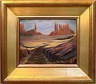 American Signed Oil Landscape Painting Southwest