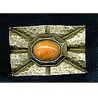 "Arts & Crafts Hammered Pin Sash Ornament ""C"""