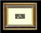 Signed American Mini Watercolor Painting Preban Ivory