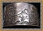 Sanborns Mexican Sterling Silver Cuff Mexico Figural