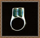 Signed Modernist Sterling Ring Chrysoprase