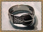 Vintage Sterling Silver Buckle Ring