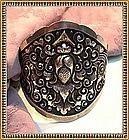 Vintage Heavy SRS 800 Silver Cuff Bracelet Bold Ornate
