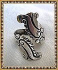 Hecho en Mexico Taxco Sterling Silver Ring Fish Wrap