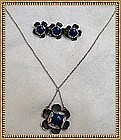 Vintage Signed Arts Crafts Sterling Necklace Pin