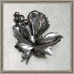 Hecho en Mexico Mexican Sterling Silver Pin Brooch 50's