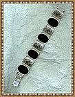 Vintage Binder Brothers Sterling Silver Bracelet Black