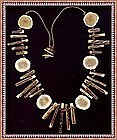Antique Horn Bone Bib Necklace Native American Chief?