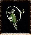 Vintage Hecho en Mexico Sterling Bird Parrot Pin