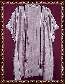 Lavender Plum Silk Long Vest Designer Signed