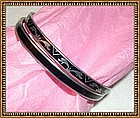 Vintage Art Deco Sterling Silver Bangle Bracelet Duo