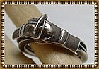 Vintage Sterling Silver Ring Hand Rare Marks Mexican