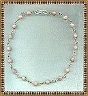 MIMI DEE Sterling Silver Necklace Choker Rhodocrosite