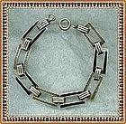 Foster & Bailey Black Enamel Sterling Silver Bracelet