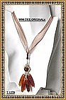 Signed Sterling Silver Necklace Carved Corn Carnelian
